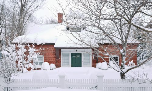 New England House under some snow